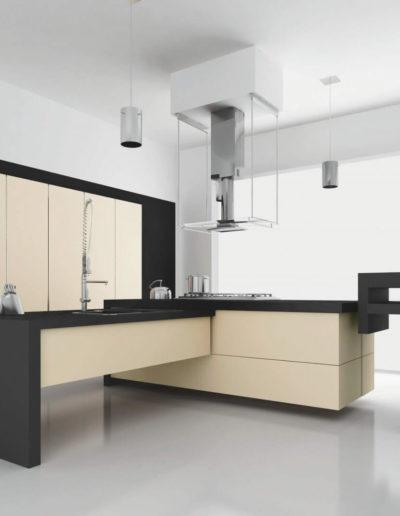 EME Cocinas Laminadas Lacadas Modelo F15013_Magnolia_mate
