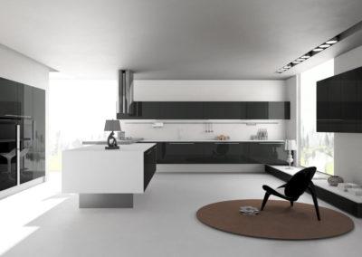 EME Cocinas Laminadas Lacadas Modelo L15006_Antracita_01