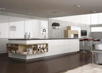 EME Cocinas Laminadas Lacadas Modelo L15006_Blanco_01