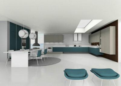 EME Cocinas y Armarios Modelo Lacado L47003_Azul_cobalto_y_gris_mate_01