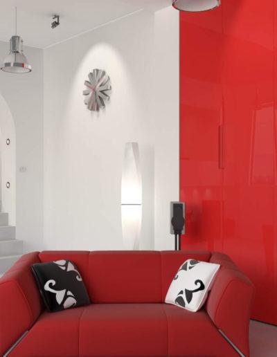 EME Cocinas y Armarios Modelo Lacado L47023_Rojo_brillo