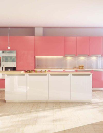 EME Cocinas y Armarios Modelo Lacado L47026_Rosa_031_brillo